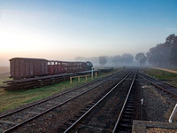 Misty Morning at Muckleford Railway Station