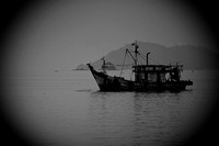 Fishing Boat in Black and White