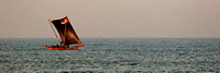 Sailing Boats off the coast near Negombo, Sri Lanka