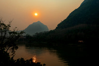 Sunset over the Nam Ou River