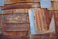 Rusty Tin Sheets in Pattern